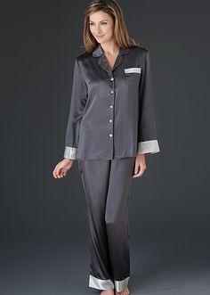 Evening Lounge Pajamas Petite - Silk Petite Pajamas, Luxury Short PJ