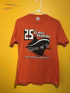 Class Reunion Lakeland Dreadnaughts Class of 1961 High School Florida FL Battleship Orange L Large T Shirt Tee 1986 Orange Tees, Florida Fl, Battleship, New Moms, Lady, Looks Great, 1980s, High School, Trending Outfits