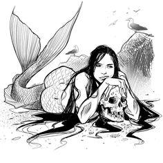 #Mermay 11 #sketch #Mermay2018 #mermaid #sea #art #Draw #quick #art #digitalArt #digitalInk #Siren #fantasy #merfolk #digital #ink