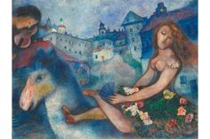 View Jeune fille au cheval by Marc Chagall on artnet. Browse upcoming and past auction lots by Marc Chagall. Marc Chagall, Artist Chagall, Chagall Paintings, Folklore Russe, Jewish Art, Pierre Auguste Renoir, Art Moderne, Henri Matisse, Pablo Picasso