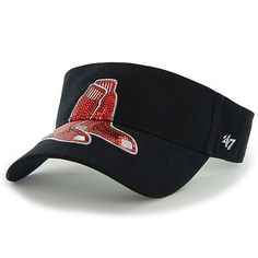 Boston Red Sox Women's Sparkle Adjustable Visor by '47 Brand - MLB.com Shop