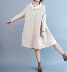 Love respiratory/ Loose doll cotton Asymmetry dress by MaLieb