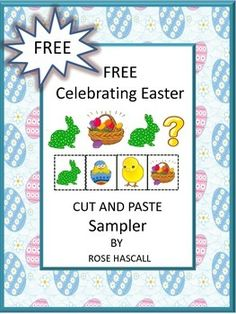 FREEBIE -  Free Celebrating Easter Cut and Paste Sampler - 22 pages.