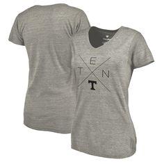 Tennessee Volunteers Fanatics Branded Women's Quad Tri-Blend T-Shirt - Ash