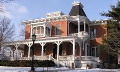 Edward Carroll House in Leavenworth, Kansas, listed on the National Registry of Historic Homes.  The Victorian museum is now home to the Leavenworth County Historical Society, founded in 1954, Leavenworth's Centennial & First City of Kansas