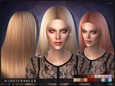 """The Sims Resource: Lydia by Nightcrawler - Sims 4 Hairs "" http://sims4hairs.com/the-sims-resource-lydia-by-nightcrawler/"