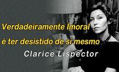 Frase de Clarice Lispector