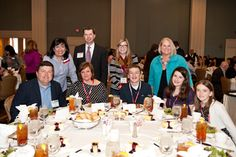 The Jaillet family with staffers from the Texas Chapter. Image courtesy of Sandy Marak Photography.