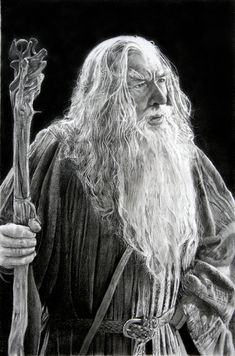 Drawing of Gandalf by Franco Clun: amazing pencil artist - http://snesorama.us/board/showthread.php?175299-Franco-Clun-amazing-pencil-artist=56ae52fabfe2f4febc1cd10cc023831b=862127#post862127