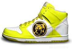 Yellow Power Ranger Nike Dunks- I need these in my life