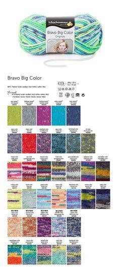Der Klassiker Schachenmayr zeigt sich mit Bravo Big Color in modischen Colorfarben.  Der leichte Überdruckeffekt erzeugt einen kurzen Farbrapport – Stricken Sie einfach los! 1 Knäuel ergibt genau einen Loop-Schal.#BravoBigColorWolle