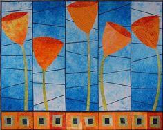 Growin' Flowers Art Quilt Pattern van TerriStegmillerArt op Etsy