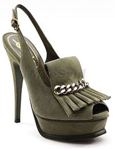 Olive Green  Peep Toe