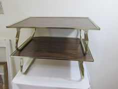 Bed Tray Lap Desk Table Set of 2 Wood Grain Look by LuRuUniques on Etsy