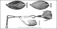 Spinner spoon lure 1870s -