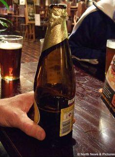 On cider bottle