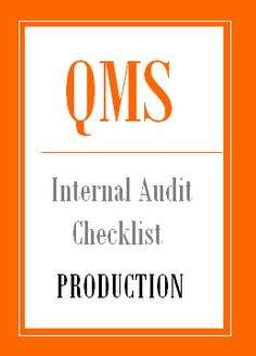 Internal audit manual for manufacturing company pdf