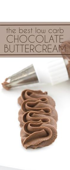 You're going to love this sugar-free chocolate buttercream. Perfect for frosting all of your low carb and keto cake recipes. via @dreamaboutfood