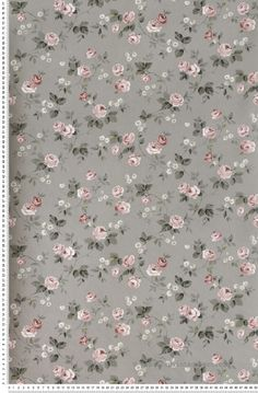 Liberty rose et gris - Papier peint Lutèce #flowers #grey #romance http://www.papierspeintsdirect.com/papier-peint/motifs-fleurs.html