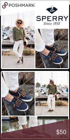 "🔸FALL PREVIEW🔸30% BUNDLE SALE🔸SEA COAST SNEAKER Fun fact: Sperry invented the original boat shoe in 1935! Same sailing sneaker that the US Navy chose because it ""sticks like barnacle.""  -True to size -Round bumper toe - Lace-up detail - Hidden inside goring -Canvas construction - Topstitched detail - Slip-on  - Removable insole - Grip sole  🛍 2+ BUNDLE=SAVE  ‼️NO TRADES  💯 Brand Items Authentic   ✈️ Ship Same Day--Purchase By 2PM PST  🖲 USE BLUE OFFER BUTTON TO NEGOTIATE   ✔️ Ask…"