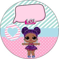 Fiestas Personalizadas Imprimibles: Kit Imprimible Lol Surprise Gratis Bottle Cap Images, Lol Dolls, Shopkins, Stickers, Girl Birthday, Free Printables, Minnie Mouse, Birthdays, Clip Art