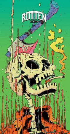 Deck Art Graffiti Wallpaper, Trippy Wallpaper, Cartoon Wallpaper, Foto Fantasy, Psychadelic Art, Trippy Painting, Stoner Art, Hippie Art, Arte Pop