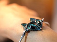 Retro Fox Bracelet Antique Style Animal Bangle by authfashion