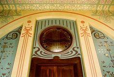 A parede da porta de acesso à sala de vistas após a conclusão do restauro. Foto Angela Garcia, 1998.