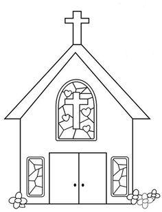 Risultati immagini per disegni di chiese da colorare per