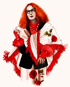 "Frances Conroy, American Horror Story. ""Myrtle Snow."" Myrtle Quillamor, Illustrator. New York, 2013."