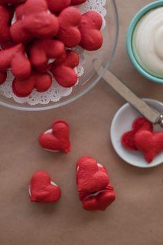 Heart Shaped Red Velvet Macarons with Cream Cheese Filling❤️ #Relationships #Trusper #Tip