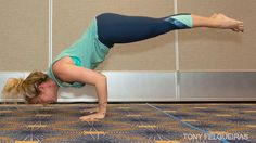 Kathryn Budig's Graceful Tripod-to-Chaturanga Transition