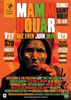 Affiche pour le festival Mamm Douar 2014.