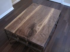 Rescued Welders Bench with Walnut top