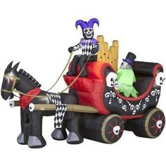 Halloween Inflatable Airblown Gemmy Antimated Circus Wagon New In Box 12 Ft!!