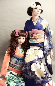 the blue kimono and her looks are soo cool