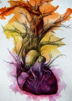 """Branches"" - Abby Diamond {artistic surreal tree #heart #anatomy illustration}"