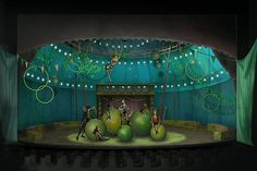 A scenic design sketch of Pippin by Tony-nominated designer Scott Pask.