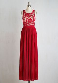 Romantic Semantics Dress in Crimson, #ModCloth