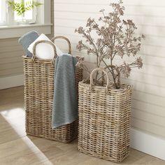 Tall Wicker Storage Basket #birchlane