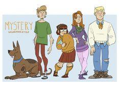 Bpssm — t-i-g-g-s: Scooby dooby doo! Cartoon Crossovers, Cartoon Tv, Cartoon Memes, Scooby Doo Mystery Incorporated, New Scooby Doo, Arte Nerd, Velma Dinkley, Bd Comics, Anime