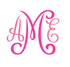 Monogram SVG  Font by inkminta on Etsy