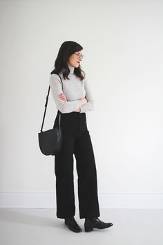 Turtleneck old J.Crew |   Sailor Pant by Jesse Kamm (Wearing a size 4) |   Thora Boots by Rachel Comey