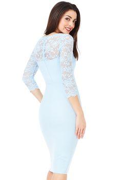 Fitted Midi Dress, Lace Dress, High Neck Dress, Neckline, London, Dresses, Fashion, Turtleneck Dress, Gowns