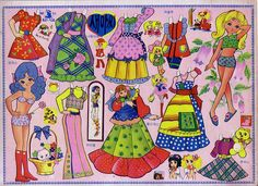 Old Paper Doll - Japan Korea 2 by Alpenfieber