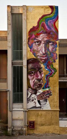 Street art by Caktus & Maria in Italy.