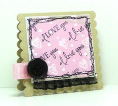 Mini card by Martha using Verve Stamps.  #vervestamps