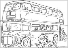 London bus colouring page, routemaster colouring page, double decker bus colouring page.