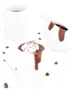 Italian hot chocolate is thick, creamy, decadent and very rich, halfway between a drink and a spoon dessert. Only 116 calories per serving via @easyasapplepie
