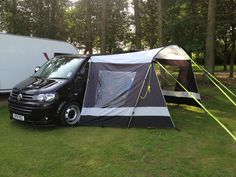 Outdoor revolution tech canopy Vw T5. Vw Bus, Volkswagen, T4 Camper, Truck Camper, Lake District Camping, Car Tent, Vw Sharan, Caravan, Cool Tents